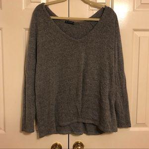 Brandy Melville comfy gray scoop neck sweater